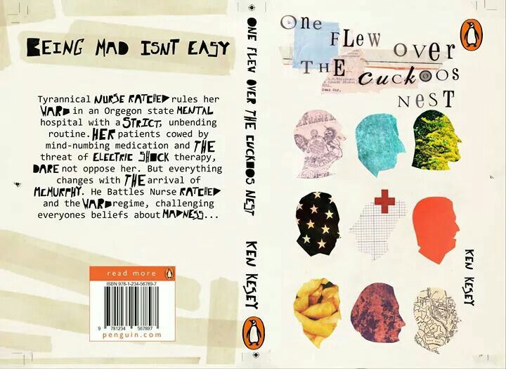 One flew over the cuckoos nest book cover by Hannah Player