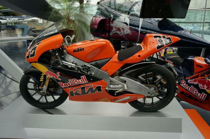 KTM 125CC FACTORY BIKE in the Red Bull Hanger-7. http://youngdumbandfun.com/attractions/red-bull-hanger-7-salzberg/