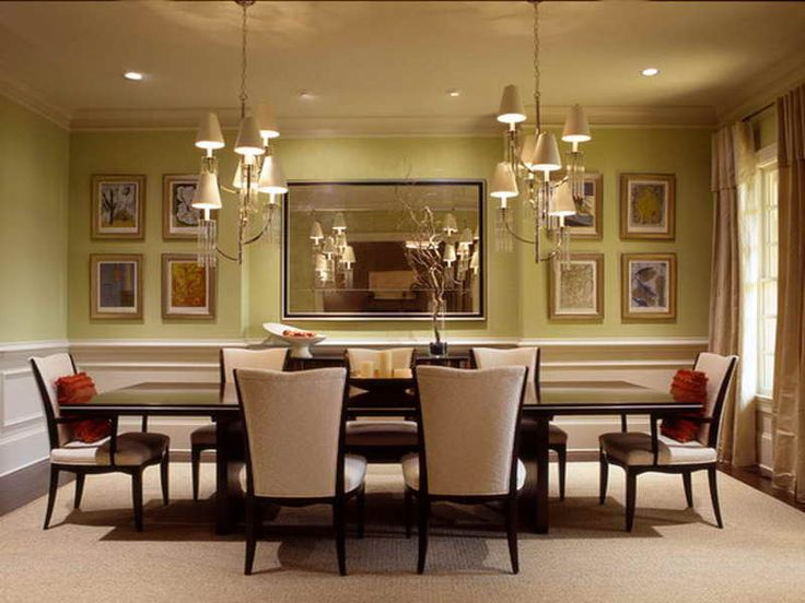 Dining Room Simple Classic With Wall Mirror And Rectangular Table Ideas