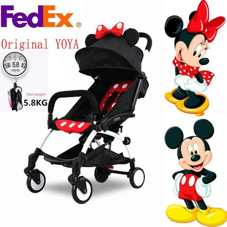Baby Stroller Yoya Stroller BABYYOYA Folding Umbrella Trolley Poussette Kinderwagen Buggy Stroller Mickey Minnie Black Pram