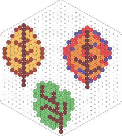 Autumn leaves perler bead pattern