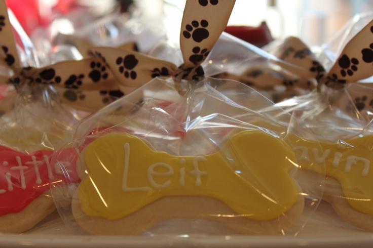 Puppy Themed Birthday Party | Kati's Kookies: Dog Themed Party Treats
