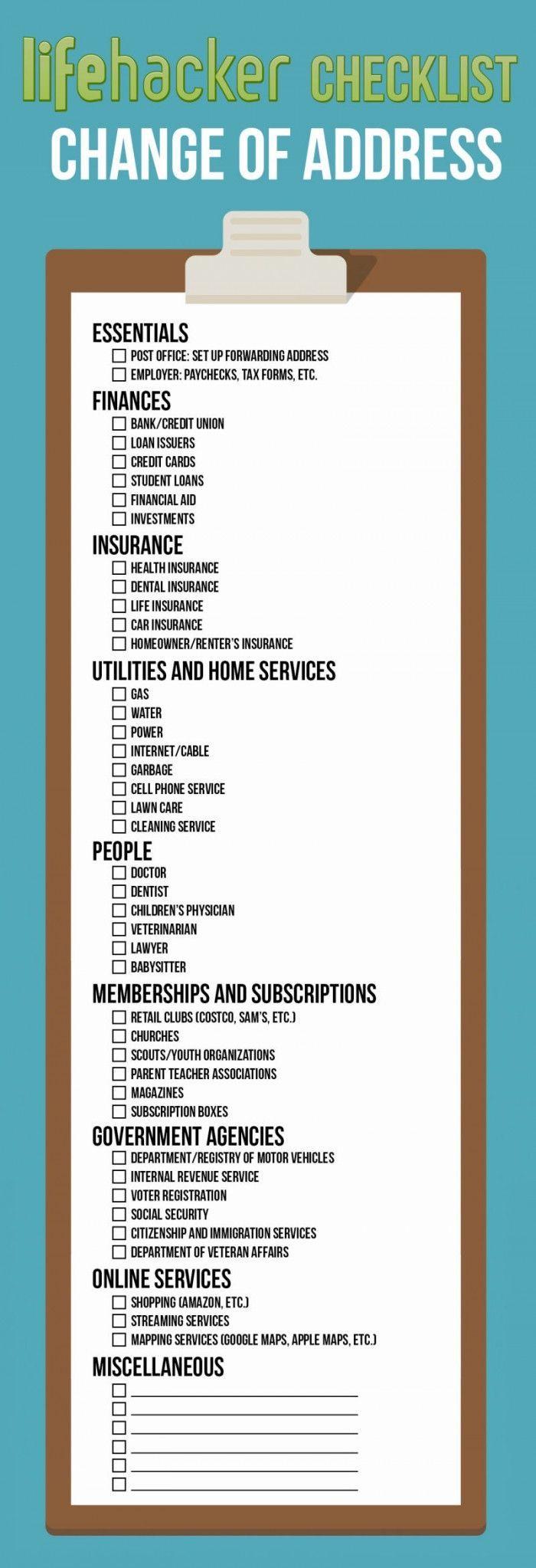 Best 25 Address Change Ideas On Pinterest Change