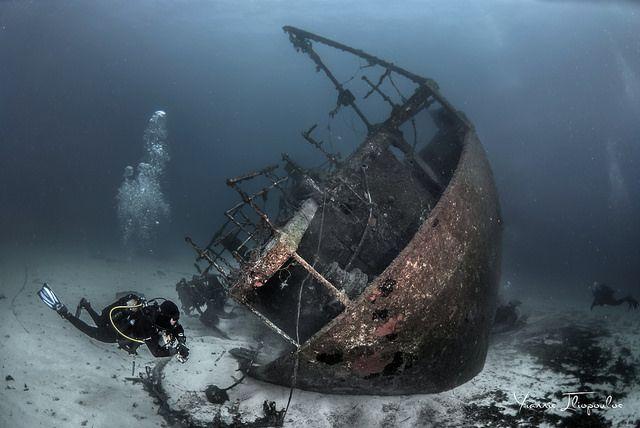 "Shipwreck ""Kyra Eleni"" (former OTTA) Photo by Yiannis Iliopoulos"