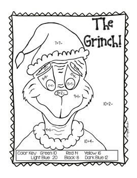 How the Grinch Stole Christmas Math ACTIVITY!