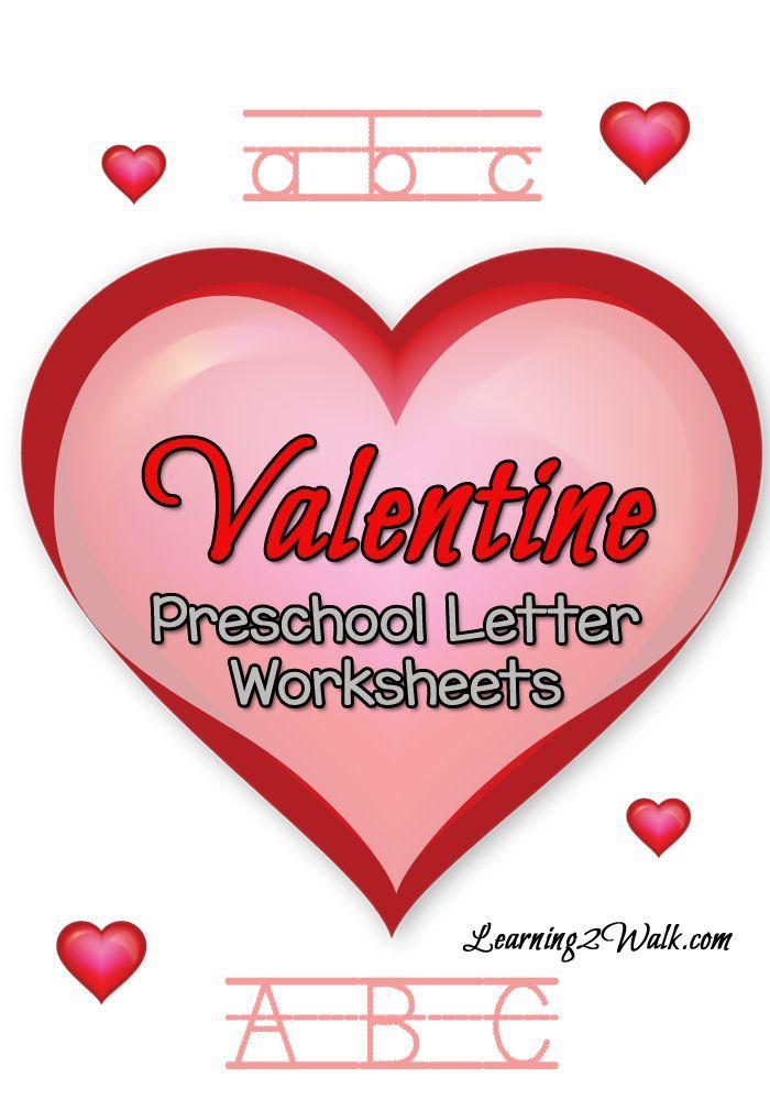 Valentine Preschool Letter Worksheets