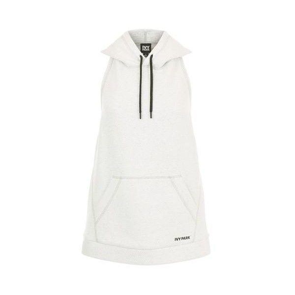 Heavyweight Backless Hoodie by Ivy Park ($39) ❤ liked on Polyvore featuring tops, hoodies, white, backless tops, white hooded sweatshirt, white backless top, lined hooded sweatshirt and white hoodie