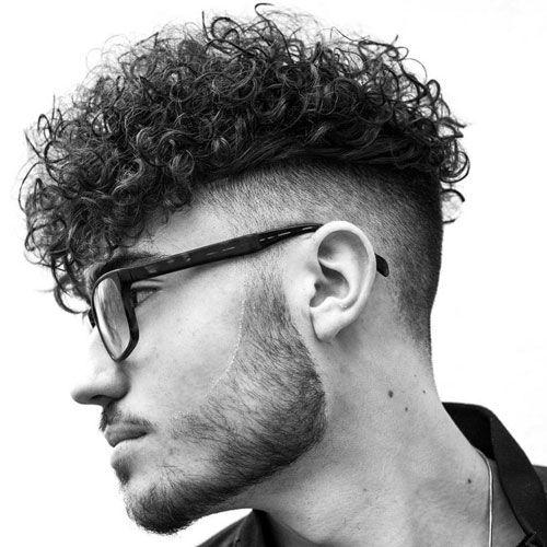 Curly Hair Fringe with Beard