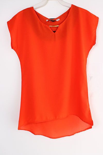 Persimmon Reagan Chiffon Top on Emma Stine Limited-This will be so hot with skinny jeans, shorts or tucked in to skirt!