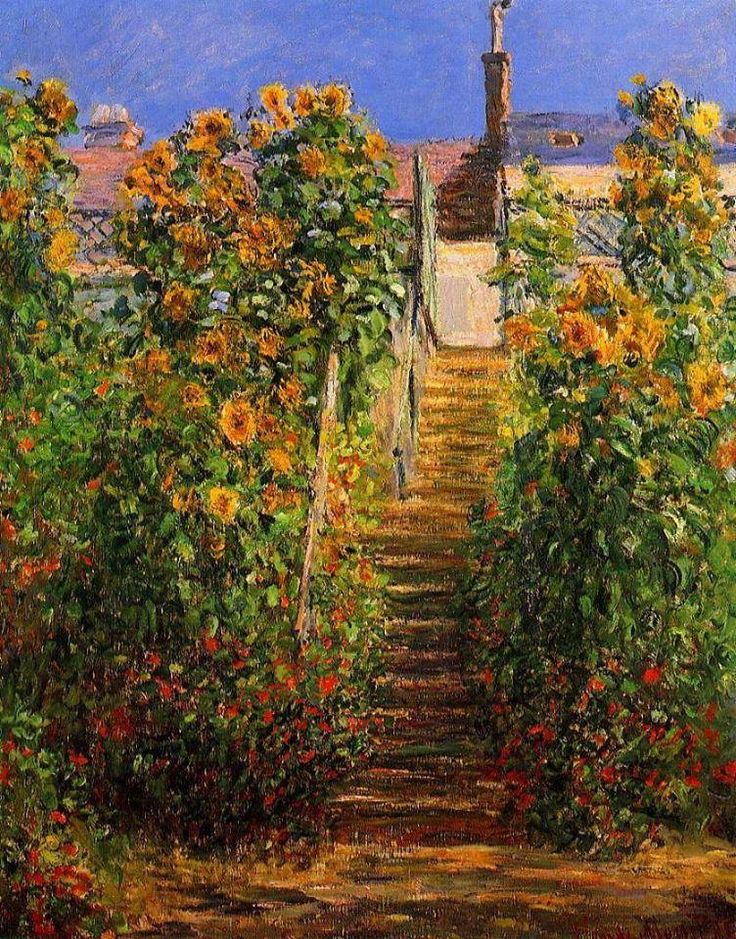 The Steps at Vetheuil - Claude Monet - 1881