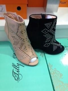 Get on your boots!! NEW TILLY ROSE ARRIVALS!! Including these Jamie Leather wedge ankle boot with Rivet and stud detail!!