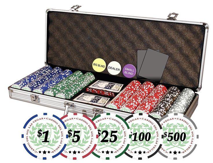 Casino chip sets texas flag