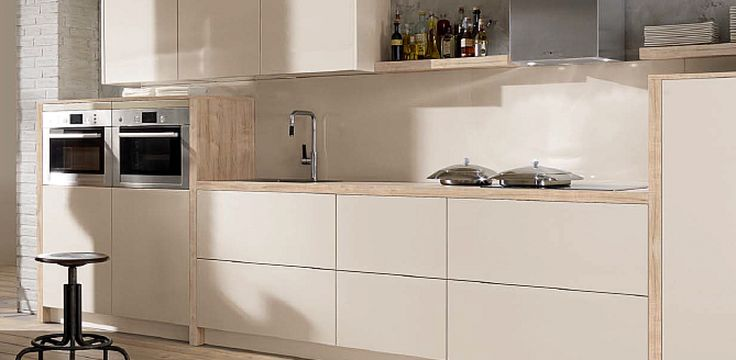 CAPRI High-gloss magnolia white WI3- 406 - In-line kitchens from In-toto Kitchens