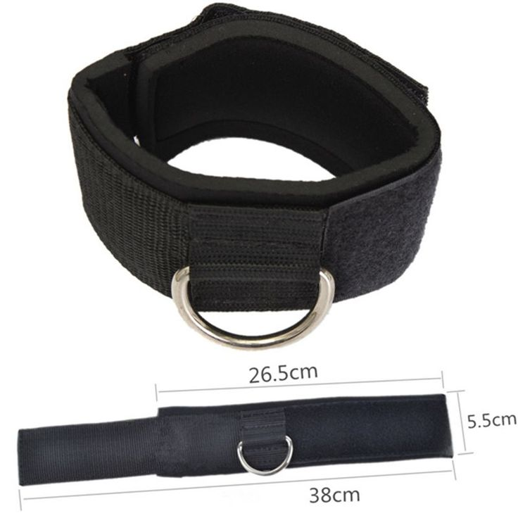 Fitness Exercise Training Equipment D-ring Ankle Anchor Strap Belt Multi Gym Cable Attachment Thigh Leg Pulley Strap Lifting