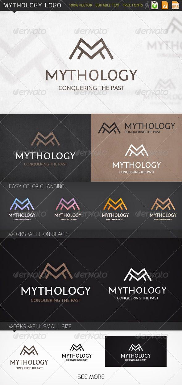 formats of business letters%0A Mythology Letter M Logo Template