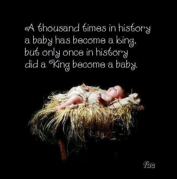 A thousand times in history, a baby has a king