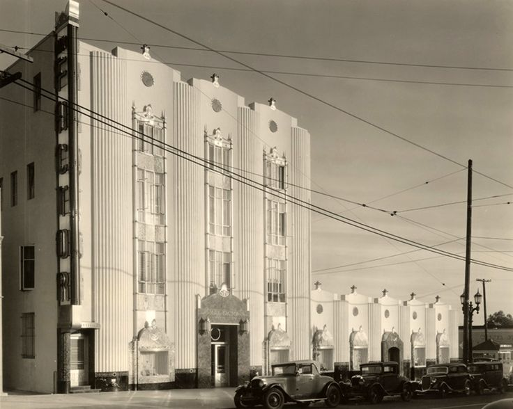 The Max Factor Building, located at 1668 Highland Avenue, circa 1936-37. (California State University) Bizarre Los Angeles