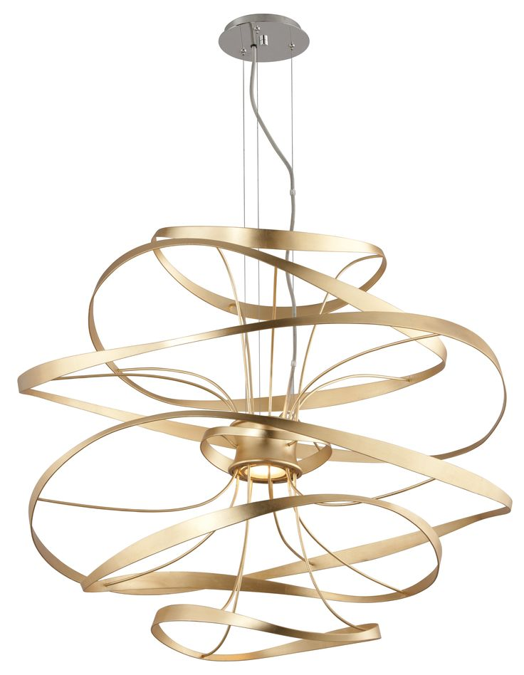 Calligraphy in Gold Leaf by Corbett Lighting.  How gorgeous is this Calligraphy lighting design? #Lightingdesign #Lighting