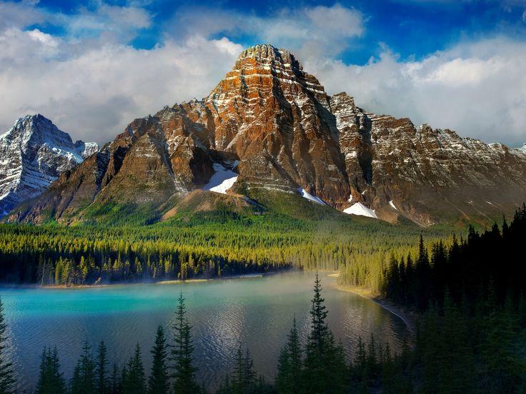 hory obrazy, krásne scenérie tapety, príroda vektor, jazero pozadia