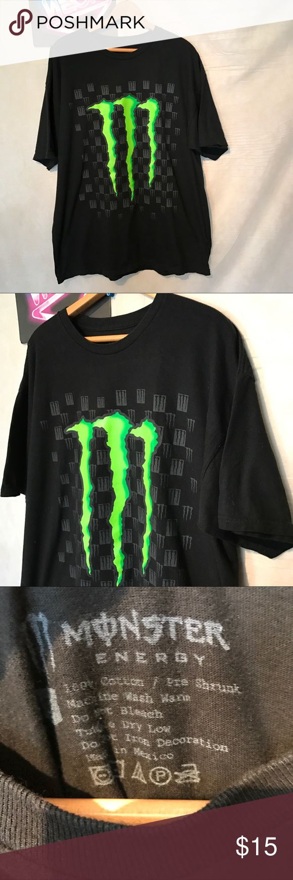 Monster energy drink Men's black t-shirt size L Monster energy drink Men's black t-shirt size large, gently used with no holes or rips, ships from smoke free environment, A1314, thank you monster energy drink Shirts Tees - Short Sleeve