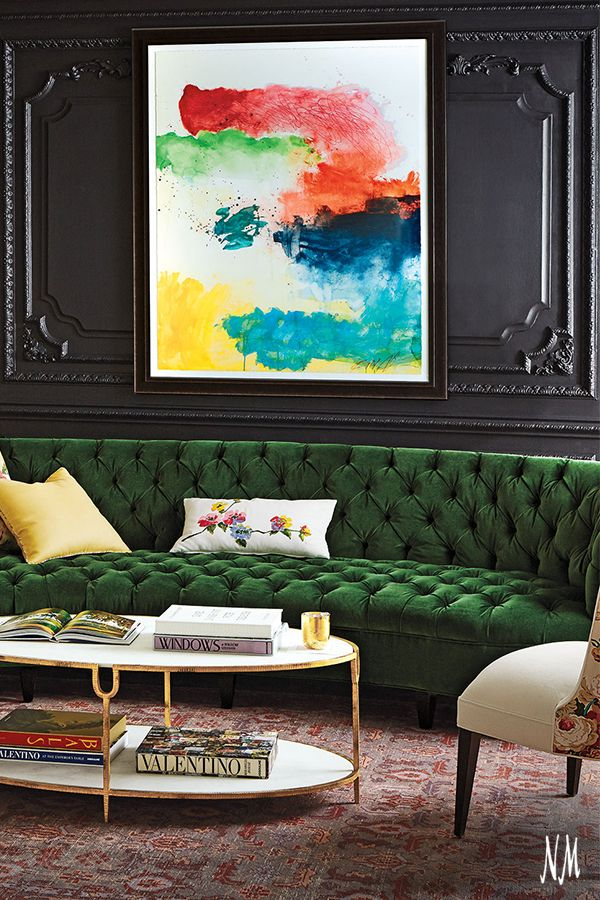 Embrace emerald luxury by Old Hickory Tannery. The Eastman Tufted Sofa is handcrafted with an abundance of expertise for lasting comfort and stability.