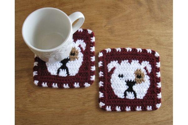 Badgers mug rug coaster