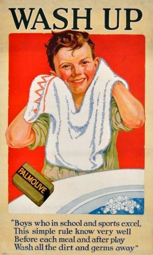 Palmolive Soap Boy, 1920s - original vintage poster listed on AntikBar.co.uk