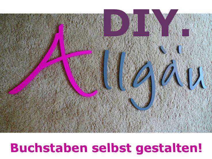 Wandtattoo ★ DIY ★ Kreativ-Set von PAULSBECK Buchstaben, Dekoration & Geschenke auf DaWanda.com
