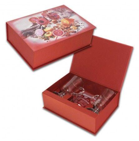 """Подарочный набор """"Для глинтвейна"""" (набор специй, два бокала, подарочная упаковка) – Профессиональные сувениры"""