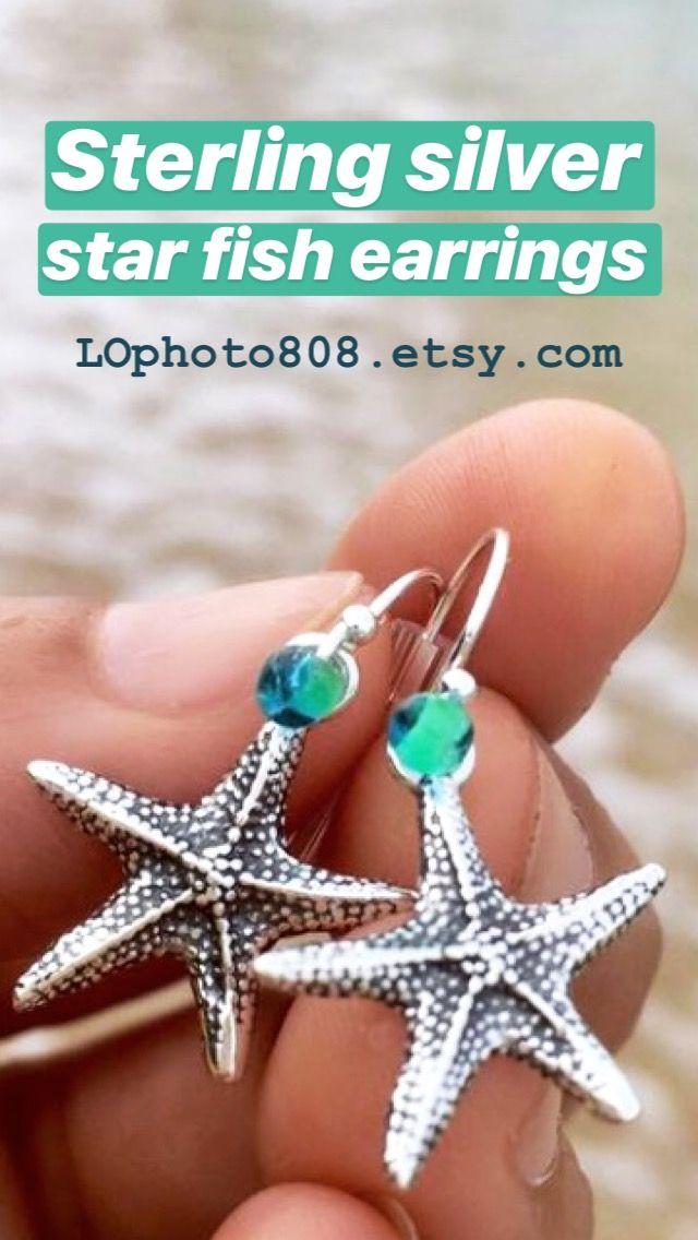 Sterling silver starfish earrings ⭐️ lophoto808