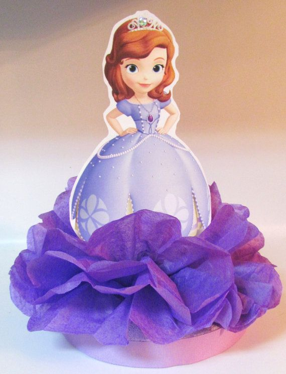 Sofia First Centerpiece Disney Princess by KhloesKustomKreation, $12.00