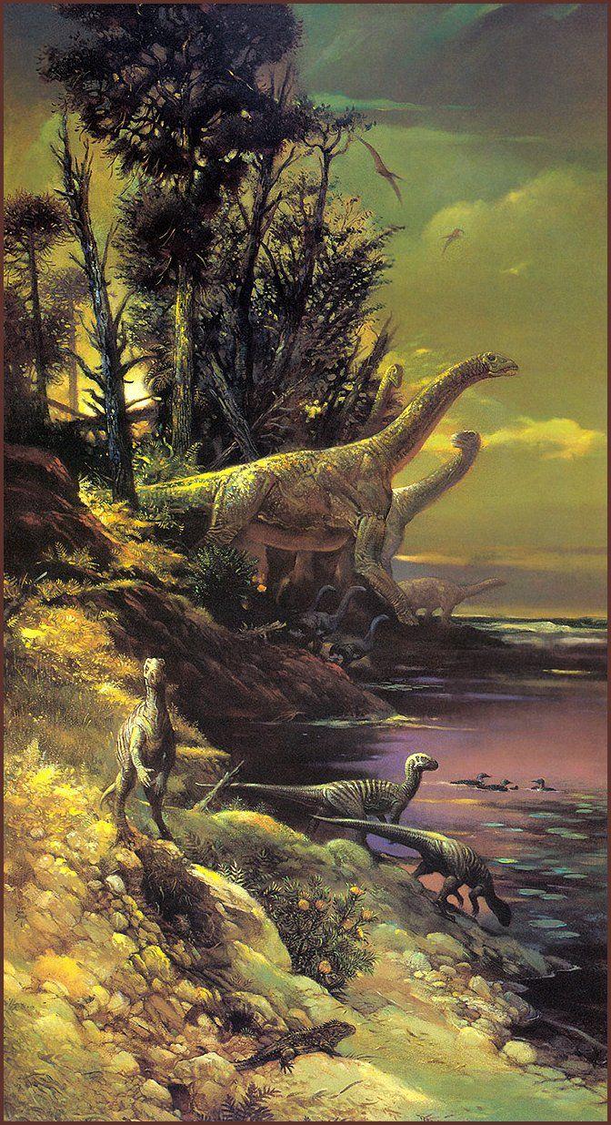 [LRS Art Medley] Dinosaurs by William Stout, Antarctic Dinosaurs