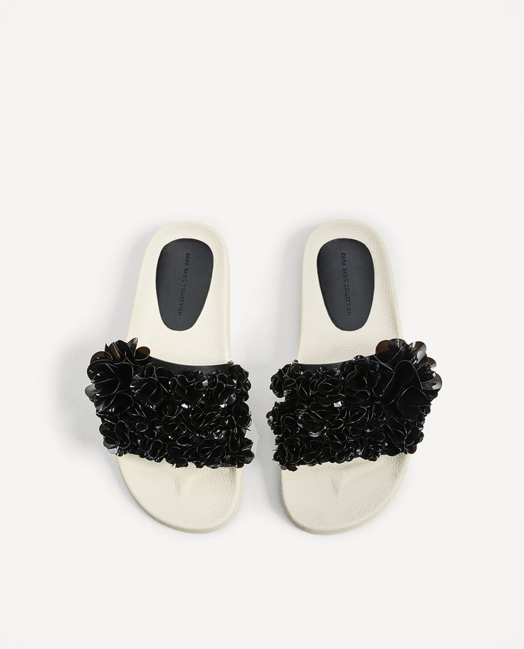 SLIDES WITH ADORNMENTS-Pool sandals-SHOES-WOMAN | ZARA Hungary