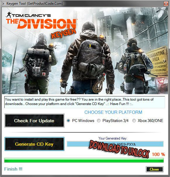 Tom Clancy's The Division Free CD KEY