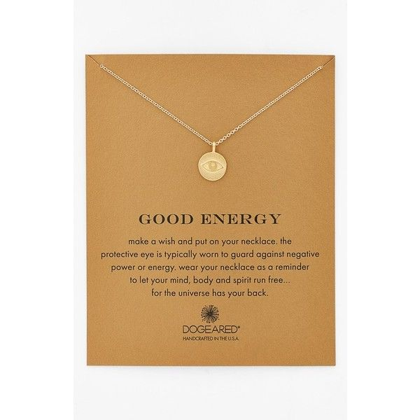 Women's Dogeared 'Reminder - Good Energy' Boxed Pendant Necklace (€53) found on Polyvore featuring women's fashion, jewelry, necklaces, evil eye pendant, evil eye necklace, dogeared necklace, dogeared jewelry and pendant chain necklace