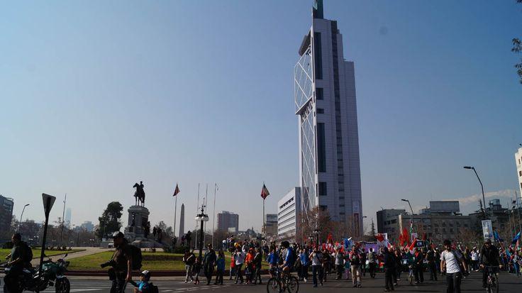 Marcha en Santiago Chile