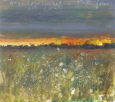 """Meadowsweet in the Fen at Dusk"" by Kurt Jackson"