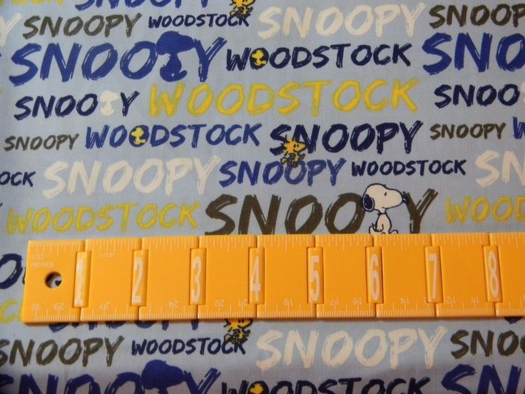 Snoopy Woodstock Word Stripe Peanuts Crafting Quilting ...