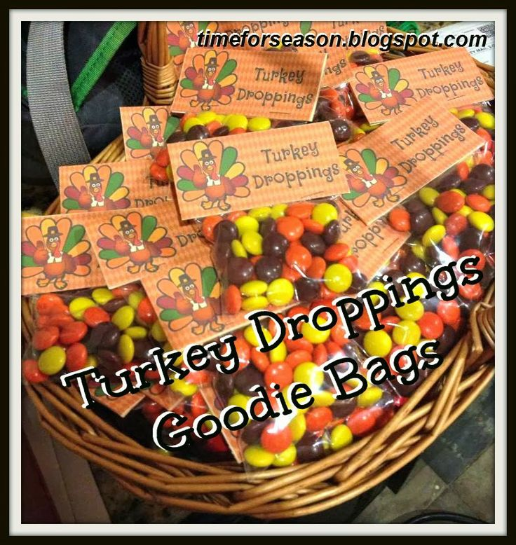 Turkey Droppings Goodie Bag Thanksgiving DIY Craft Candy Free Printable