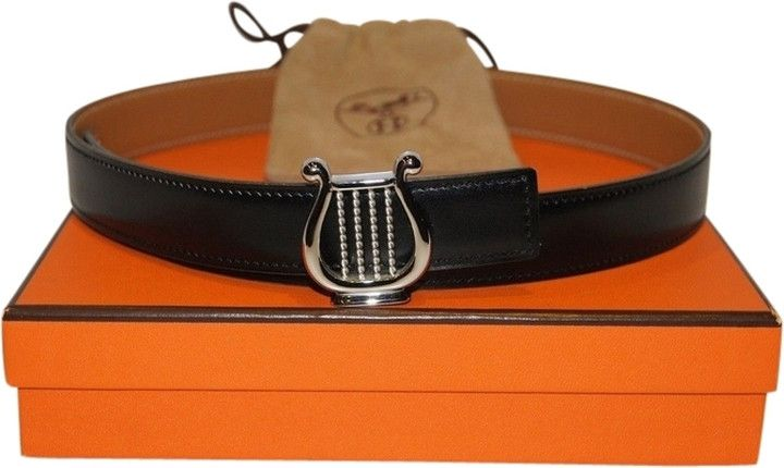 AUTHENTIC HERMES Harp BELT Silver 25.5 inches size 65 cm