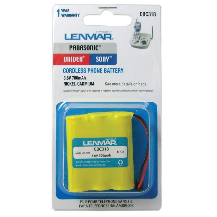 Lenmar CBC318 Replacement Cordless Telephone Battery, 3.6 Volt