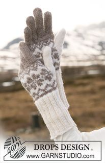 "DROPS 116-46 - DROPS gloves in ""Karisma"" with Norwegian pattern. - Free pattern by DROPS Design"