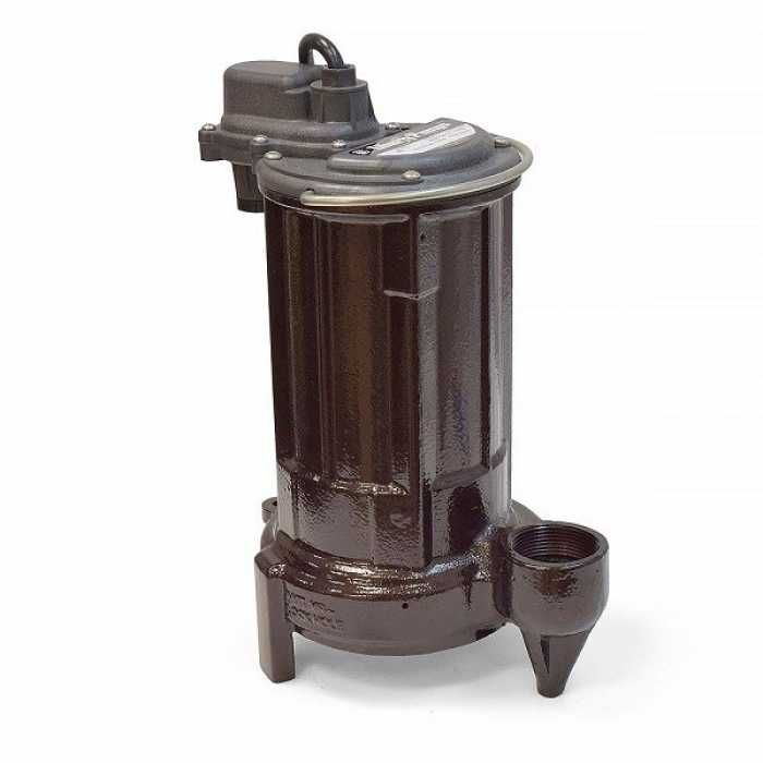 "Liberty Pumps 280-2 1/2 HP Manual Sump / Effluent Pump, 110V ~ 120V, 25"" cord"