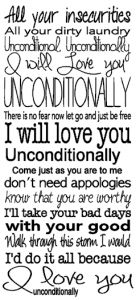Bonus Random Post – Unconditionally Lyrics in Print or SVG Form
