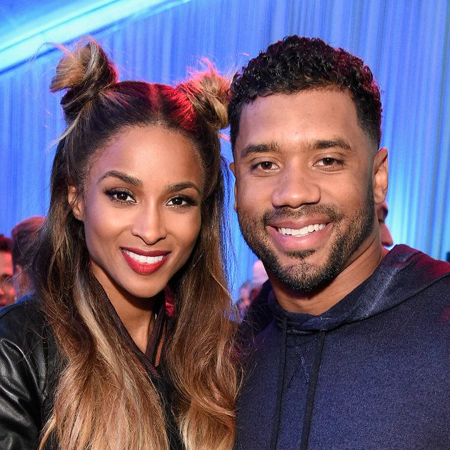 """Ciara And Her Baby Bump Cuddle Up To Russell Wilson On Private Jet - """"I Wuv This Guy"""" from essence.com"""