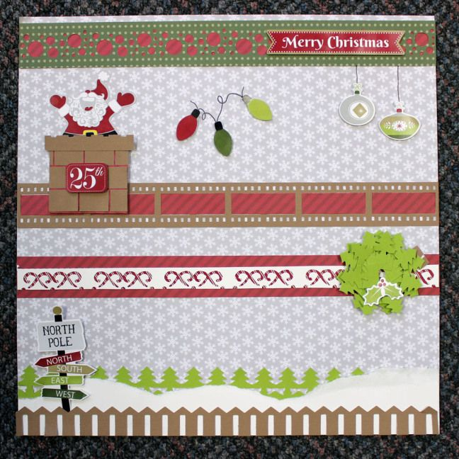 Holiday Page Borders using new Holiday paper and stickers #creativememories #christmas #evergreen bordermaker   http://www.creativememories.com/user/lanitamedina