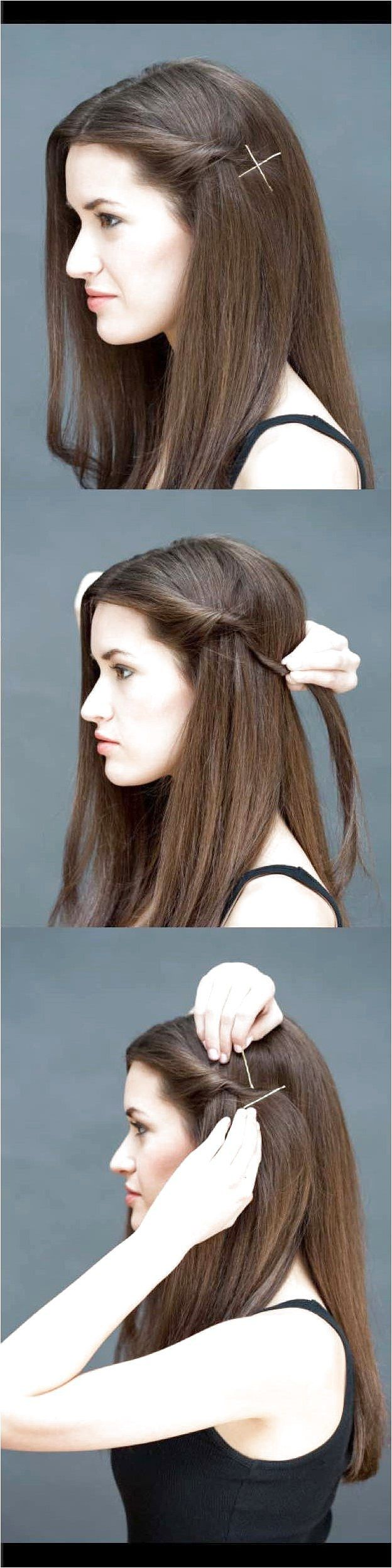 Quick and Easy Hairstyles for Straight Hair – The Twist-and-Pin – Popular Haircu…