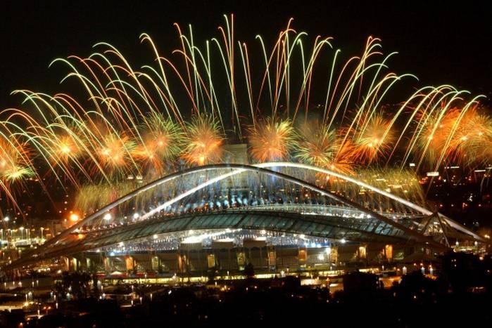 Athens Olympic Stadium, designed by Santiago Calatrava. (Associated Press)