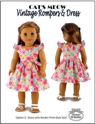8f5a5bb8ea Forever 18 Inches Cat s Meow Vintage Rompers  amp  Dress Doll Clothes  Pattern 18 inch American