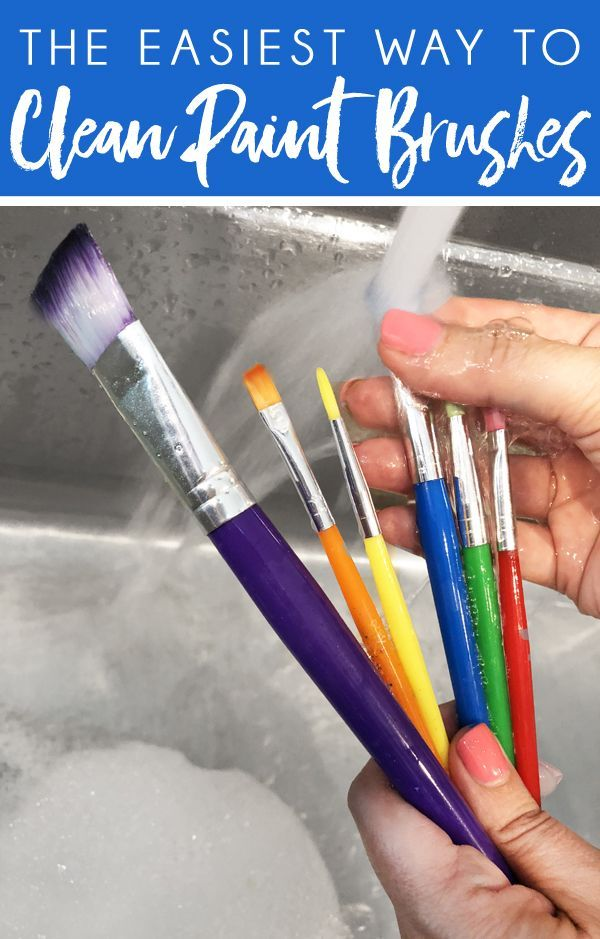 Clean Up After Painting How To Clean Paint Brushes And Get Paint